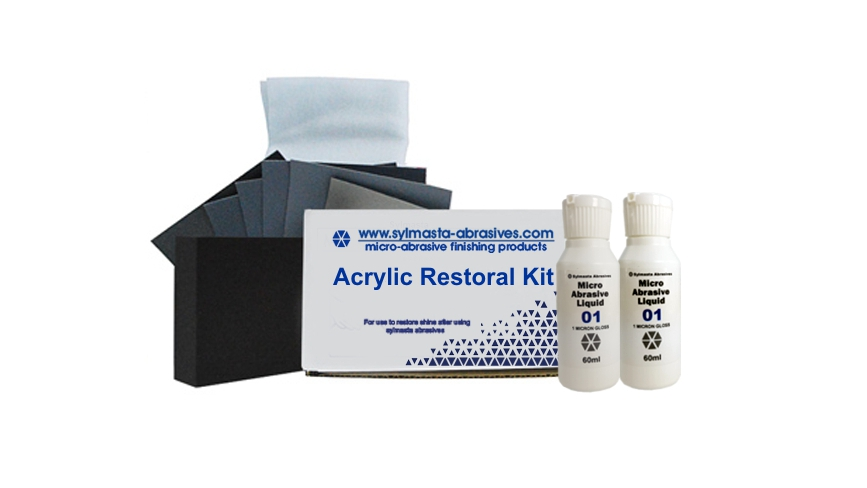 Sylmasta's Acrylic Restoral Kit Medium is used for the repair and restoration of lager acrylic surfaces up to 6m²
