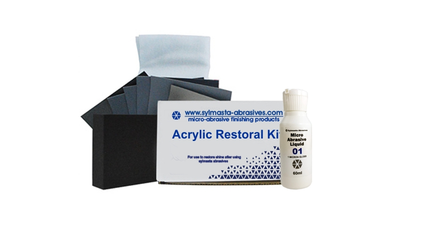 The Acrylic Restoral Kit Small is used for the repair of acrylic surfaces up to 3m²