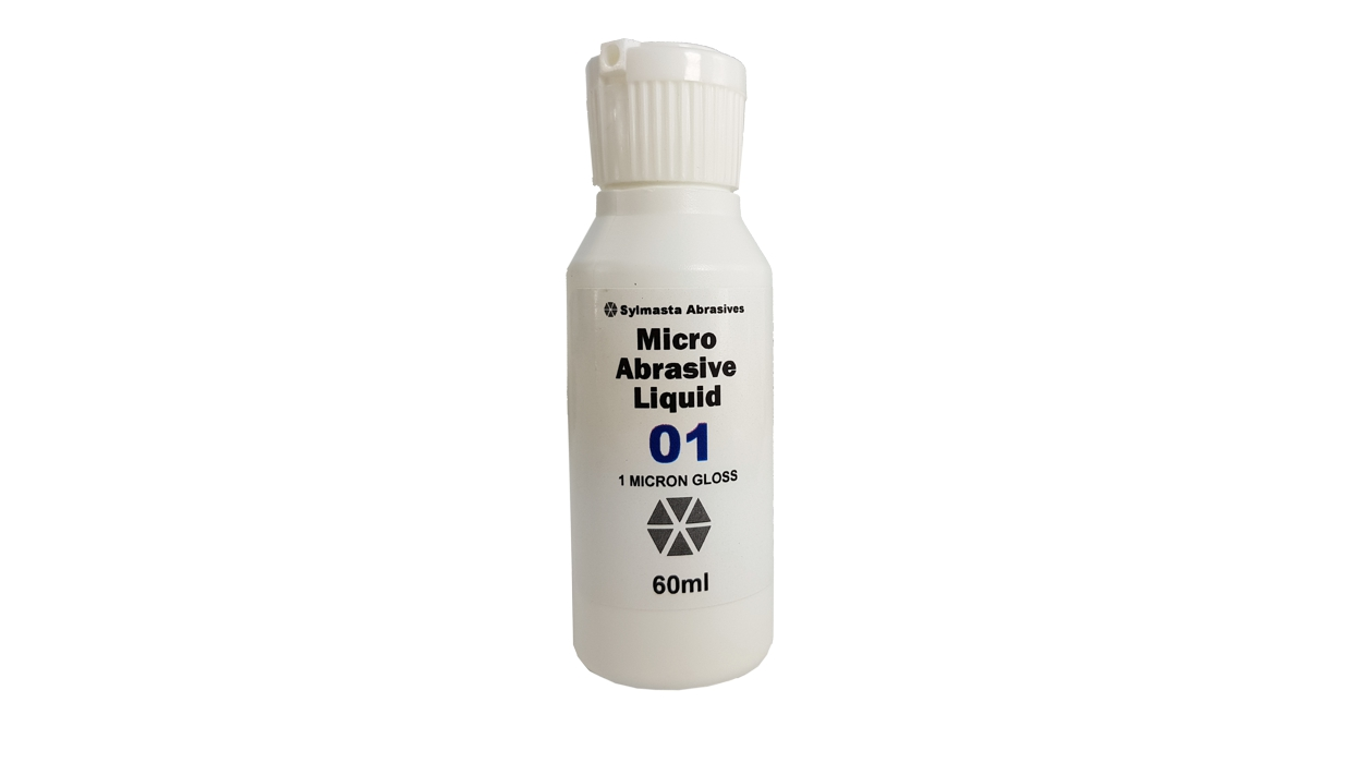 Sylmasta Micro Abrasive Gloss Liquid is used for an ultra shiny finish as the final step in the abrasion process